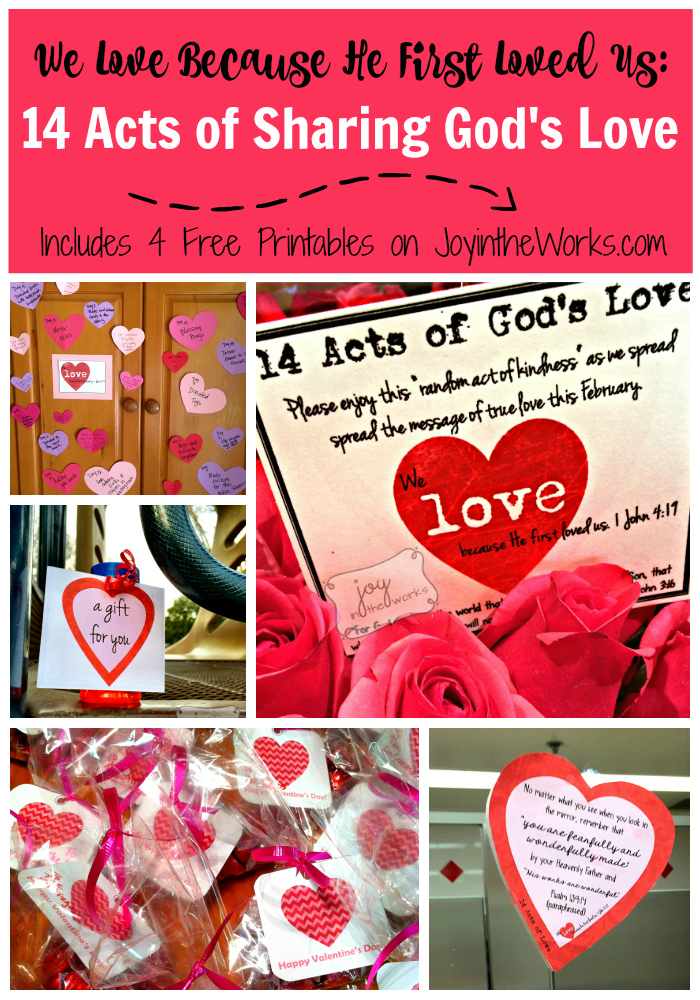 Share true love this Valentine's Day by spreading the message of God's love using these 14 random acts of kindness