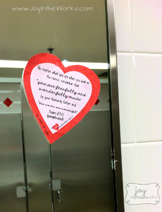 14 Acts of Sharing God's Love: Put a love note in the public bathroom