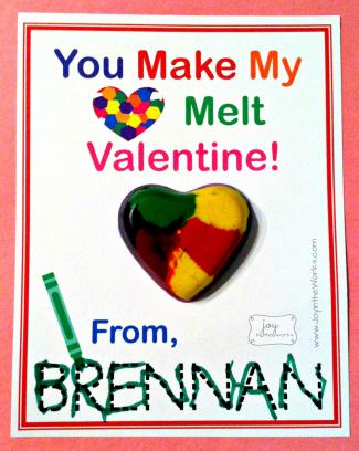 Heart melt valentine