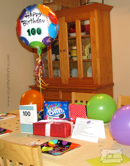 Celebrate Your Childs 100 Month Birthday Breakfast Table Decorations