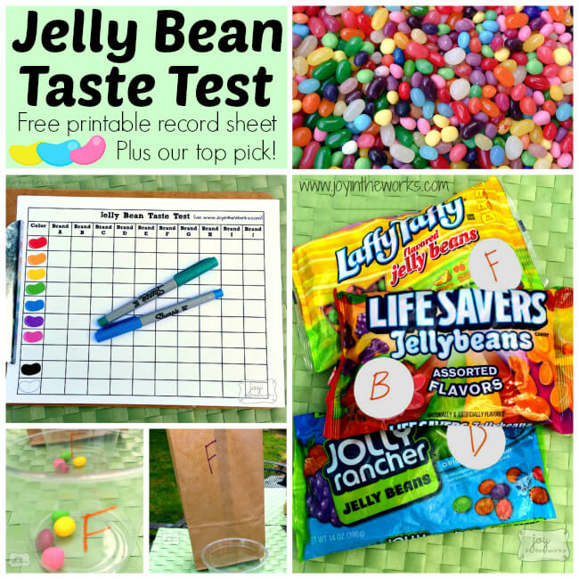 Jelly Bean Taste Test is the perfect Family Fun Activity for Spring! This time, we polled several friends and family members and are sharing our top picks with you! Plus, you can download your own Jelly Bean Taste Test Record Sheet to conduct your own! Can't wait to hear what you pick as your favorite!