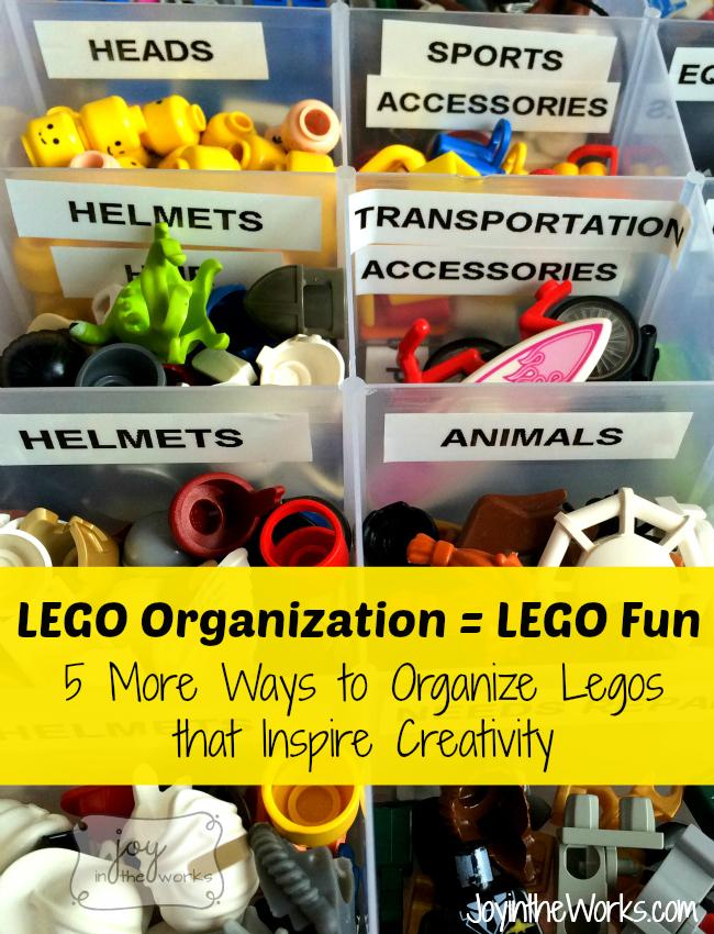 Lego Organization = Lego Fun! 5 More Ways to Organize Legos