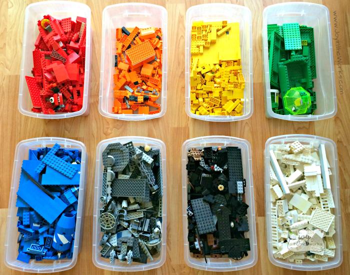Lego Organization = Lego Fun - Joy in the Works