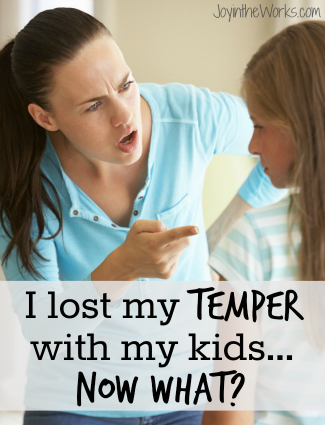 I lost my temper with my kids…now what?