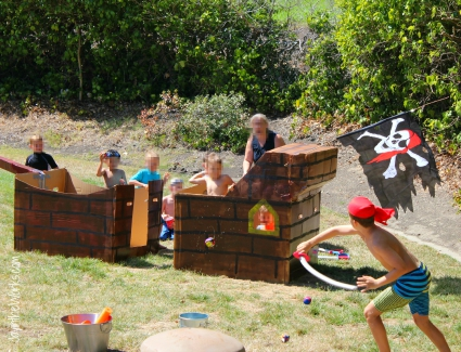 Pirate Pool Party cannonball attack