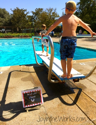 Pirate Pool Party Activity: Walk the Plank off the diving board