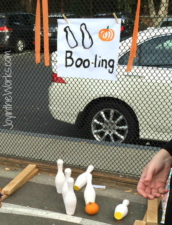 Boo-ling: Using ghost pins for bowling at a class halloween party