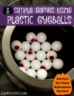 5 Simple Games Using Plastic Eyeballs for your Halloween Class Party