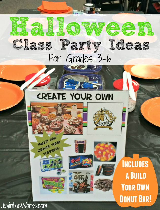 Searching for ideas for your Halloween Class Party for your older kids? Check out these & Halloween Class Party Ideas for Grades 3-6 - Joy in the Works