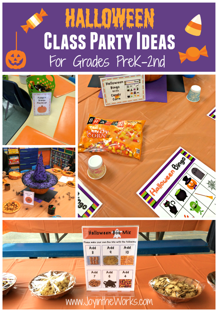 Classroom Event Ideas ~ Halloween class party ideas grades prek nd joy in the works