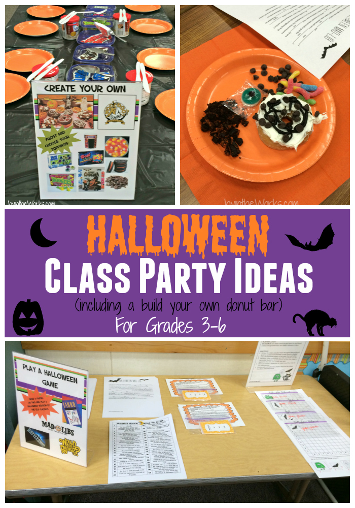 Classroom Birthday Party ~ Halloween class party ideas for grades joy in the works