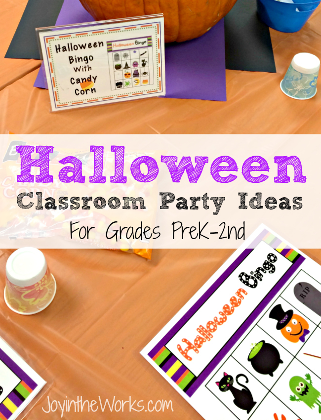 Halloween Class Party Ideas Grades Prek 2nd Joy In The Works