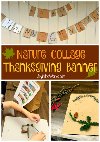 Nature Collage Thanksgiving Banner from JoyintheWorks.com