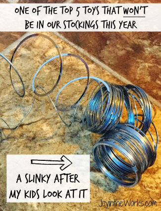 What happens to a slinky after my kids even just look at it