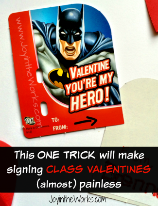 This ONE TRICK will make signing class valentines (almost) painless for your kids
