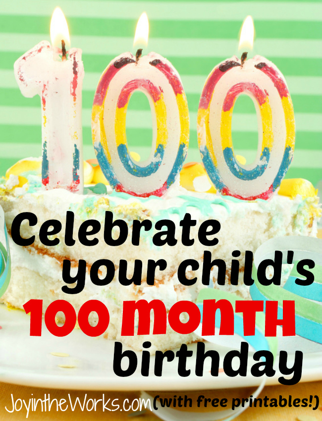 The Only Chance You Will Ever Get To Celebrate Your Child Turning 100 Or 8