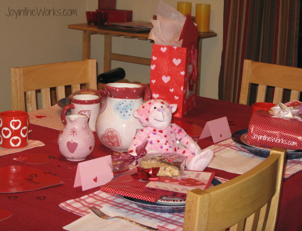 In our house, we decorate the dining room table as a surprise for the kids (for Valentine's day and other holidays)