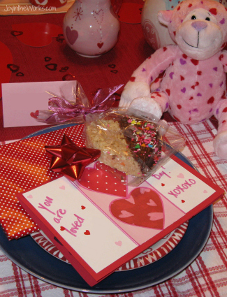 Start the day off with a family Valentine breakfast, complete with a decorate table, a special treat and small gifts!