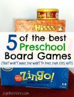 5 of the Best Preschool Board Games