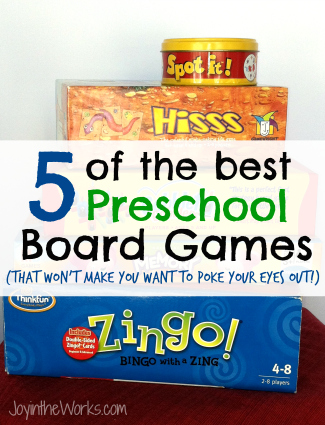 Some preschool board games make me want to poke my eyes out due to the monotony...check out the 5 best preschool board games that ARE enjoyable!