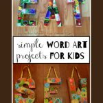 Simple Word Art for Kids : EAT, SEW