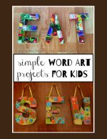 Simple Word Art Project for Kids