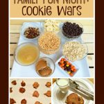 Looking for a fun, easy way to have fun as a family? Have a cookie war! Kids and parents can choose their mix ins and create some memorable cookies!