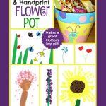 Fingerprint and Handprint Painted Flower Pot