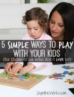 5 Simple Ways to Play With Your Kids