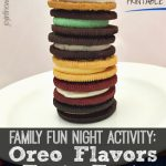Pull out the blindfolds for this Oreo flavors taste test. It makes a great family fun night activity and has a free printable for you to do your own!