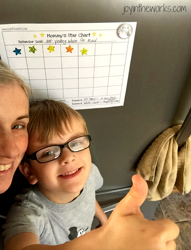 Mommy's Star Chart with proud kid and mom
