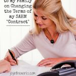 Changing the terms of my SAHM Contract