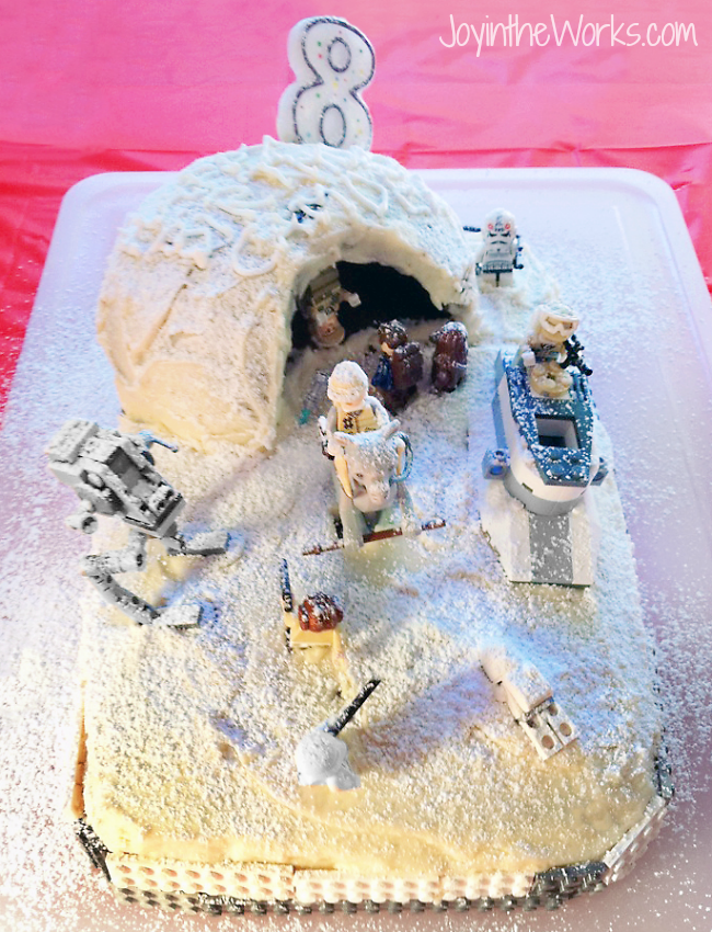 Make A Easy Star Wars Hoth Cake For Your Lego Birthday