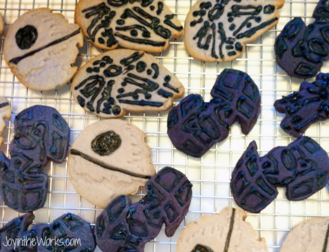 Death Star, Millenium Falcon and Tie Fighter Star Wars Cookies