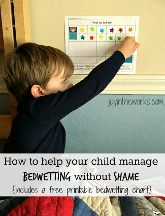 Now that I know firsthand how common bedwetting is, I am helping my son manage bedwetting without shame with these tips and a free printable reward chart.
