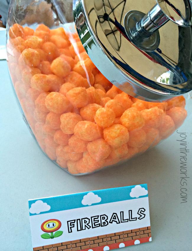 Mario Fireballs Cheeseballs