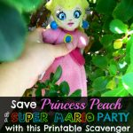 Need a fun activity for a Super Mario Party or just a Super Mario Fan? How about a Save Princess Peach Scavenger Hunt? Check out the scavenger hunt we made complete with printable clues and storyline