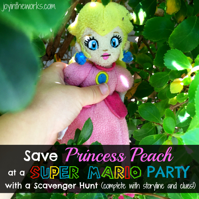 Need a fun activity for a Super Mario Party or just a Super Mario Fan? How about a Save Princess Peach Scavenger Hunt? Check out the scavenger hunt we made complete with printable clues and storyline!