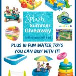 Summer is upon us and we are celebrating with a Splash into Summer Giveaway for a $100 Amazon gift card! Plus here are 10 fun water toys to spend it on!