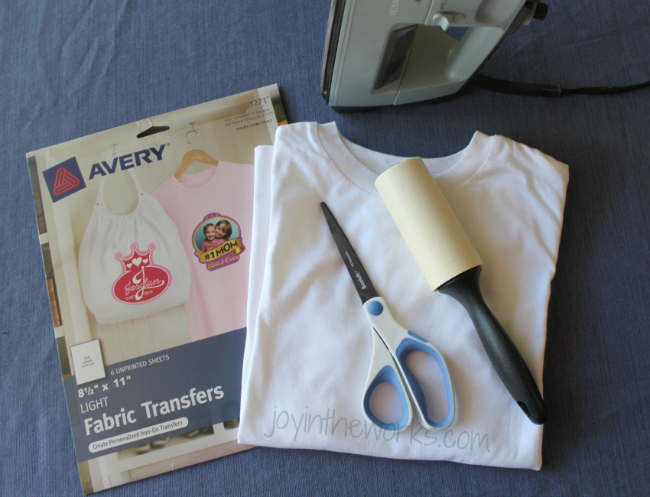 DIY iron-on 4th of July t-shirt, Step 1: Gather supplies