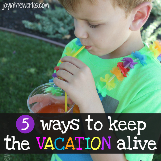 Got the post vacation blues after a tropical vacation? Check out these 5 ways to keep the vacation alive after the plane lands. #bringthetropicshome #ad