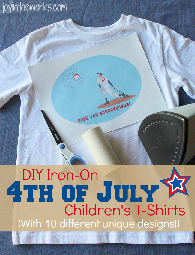 Tired of the same old boring 4th of July T-shirts? Or didn't get to the store in time to buy one for your kids? Then check out these DIY Iron-on 4th of July t-shirts designs that you can easily download.