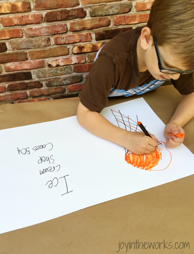 Have your kids create an Ice Cream Shop Sign
