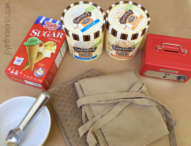 All you need for your kids to open their own Ice Cream Shop- from cones to a cash box! #sweetertogether #ad