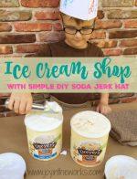 DIY Ice Cream Shop and Soda Jerk Hat