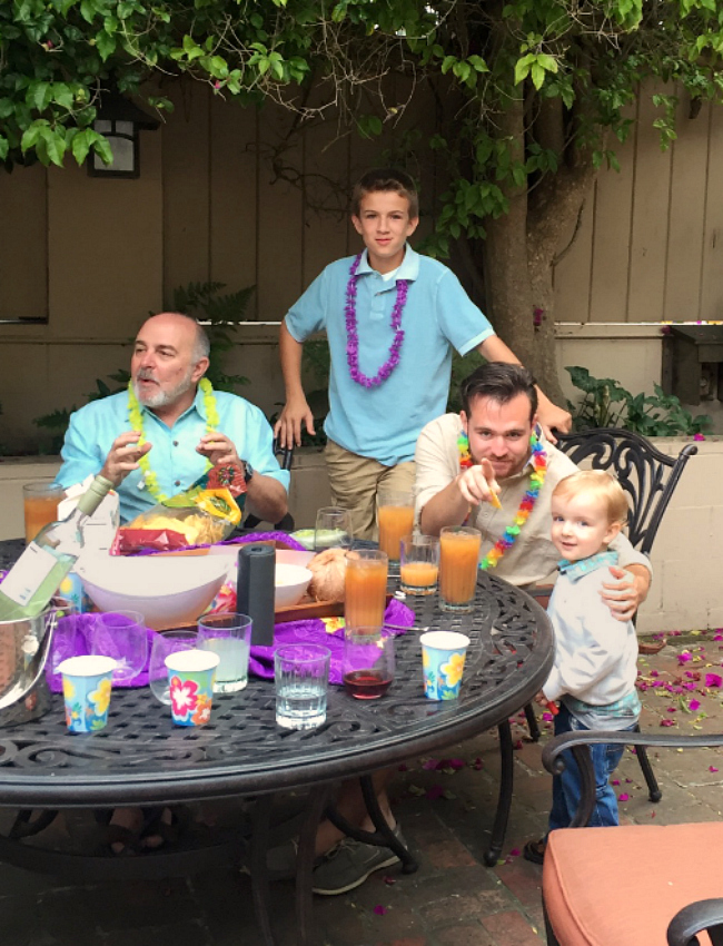 Talking and eating together with family and friends on Tropical Tuesday- a great way to keep the vacation alive