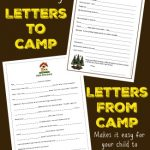 Fill-in-the-Blank Letters to (and From!) Camp