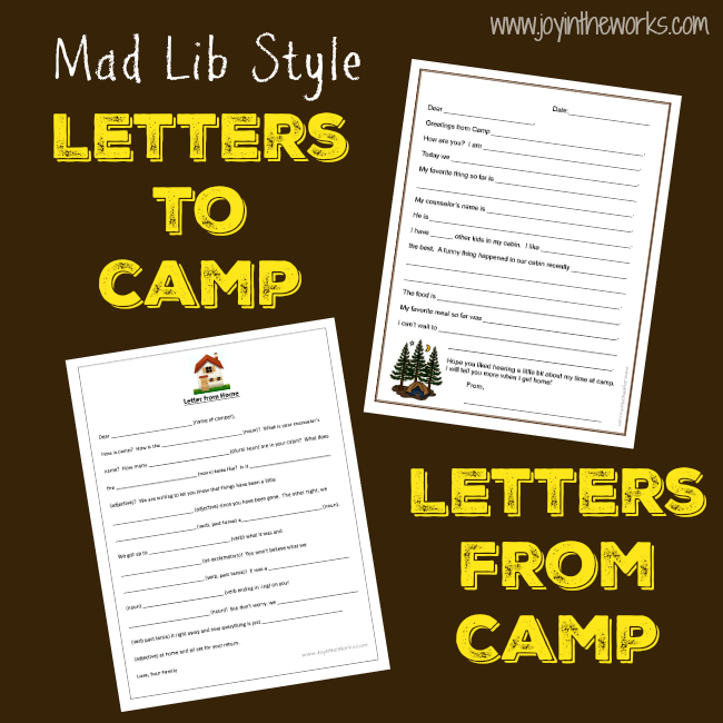 photograph about Printable Fill in the Blank Camp Letters named Fill-inside-the-Blank Letters towards (and Versus!) Camp - Contentment inside the Will work