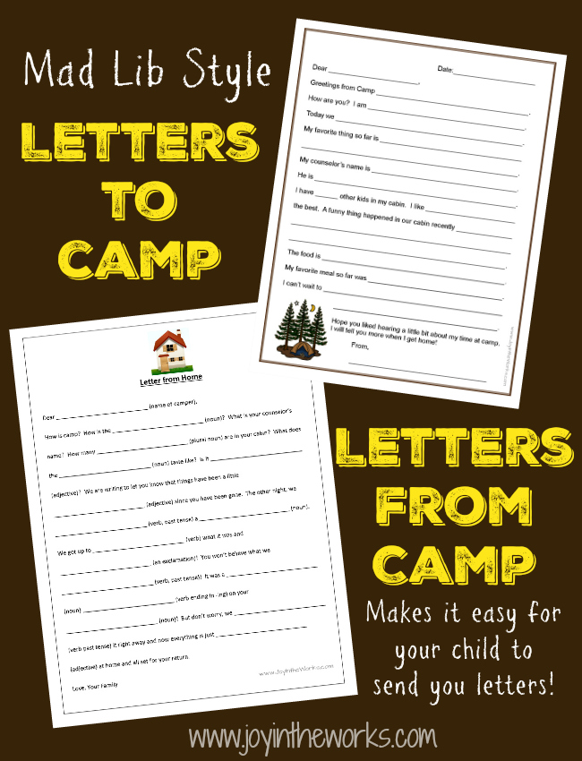 image about Printable Fill in the Blank Camp Letters named Fill-in just-the-Blank Letters toward (and Versus!) Camp - Happiness inside the Performs