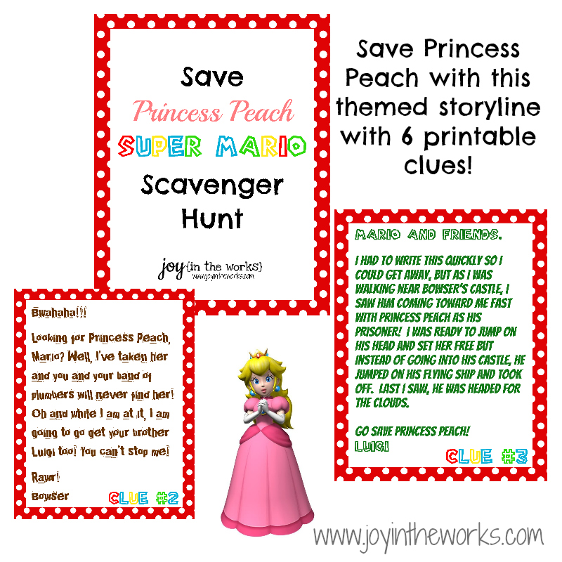 Save Princess Peach Scavenger Hunt Joy In The Works